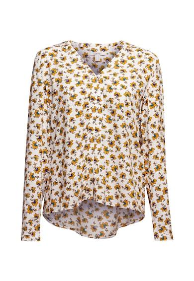 Esprit Bluza cu decolteu in V si model floral Femei