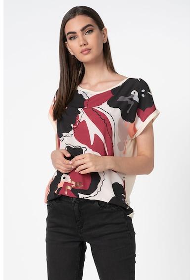 Esprit Tricou cu maneci drop si imprimeu creponat pe partea din fata Femei