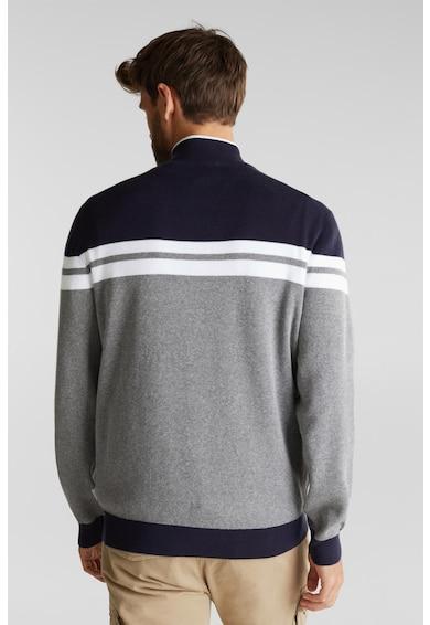 Esprit Pulover tricotat fin cu fenta cu fermoar Barbati