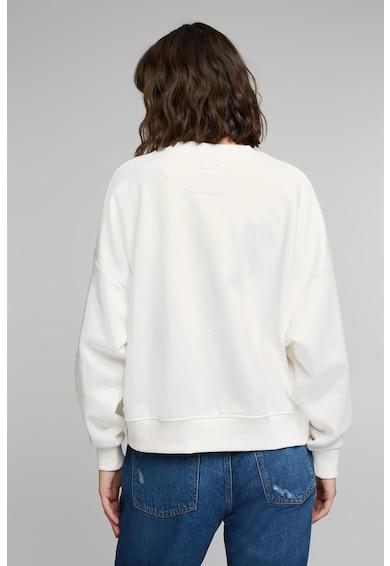 EDC by Esprit Bluza sport din amestec de bumbac organic cu maneci cazute Femei
