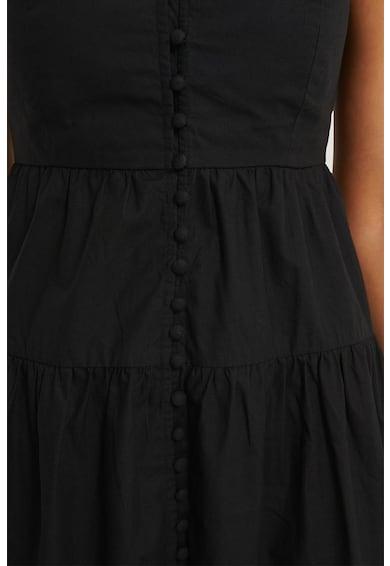 NA-KD Lépcsőzetes megjelenésű maxiruha spagettipántokkal női