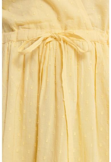 NA-KD Átlapolós ruha megkötővel a derékrészén női