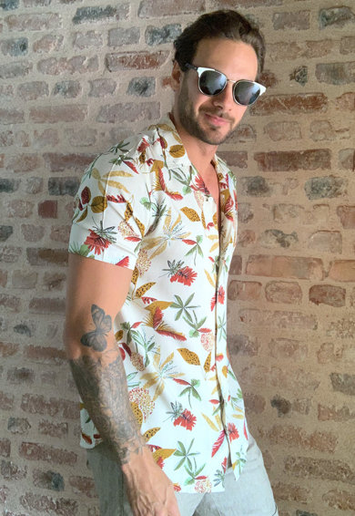 Trendyol Virágmintás ing férfi
