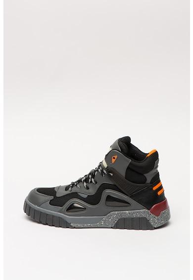 Diesel Pantofi sport mid-high cu garnituri de piele Rua Barbati