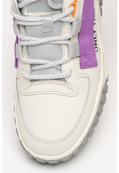Diesel Pantofi sport de piele cu garnituri contrastante Rua Femei
