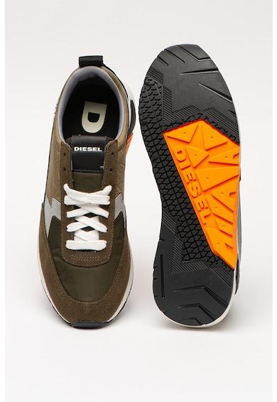 Diesel Pantofi sport low-cut cu garnituri de piele intoarsa KB Barbati