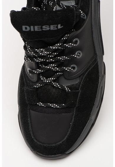 Diesel Pantofi sport de piele si material textil Kipper Barbati
