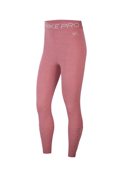Nike Colanti crop cu talie inalta si tehnologie Dri-Fit, pentru fitness Femei