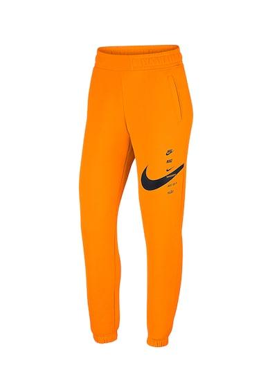 Nike Pantaloni sport cu imprimeu logo Femei