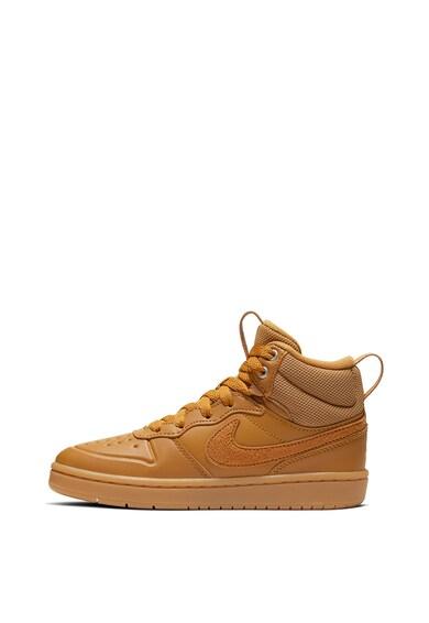 Nike Pantofi sport mid calf cu insertii din piele Court Borough Fete