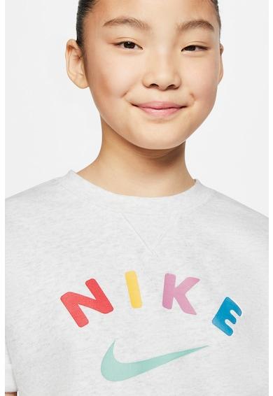 Nike Logómintás póló kenguruzsebbel Lány