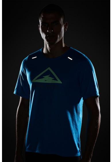 Nike Tricou cu tehnologie Dri-FIT si imprimeu grafic, pentru alergare Rise 365 Barbati