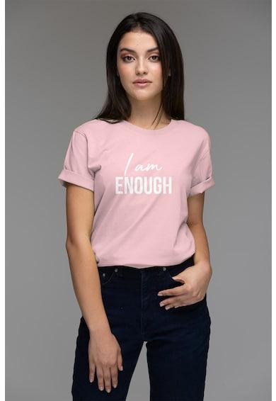Andreea Raicu Organikuspamut póló feliratos mintával női