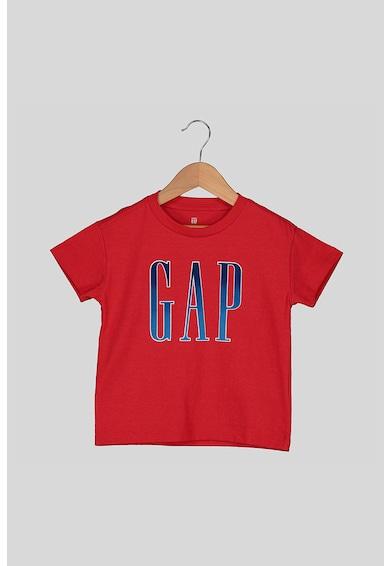 GAP Tricou cu decolteu la baza gatului si imprimeu logo Fete