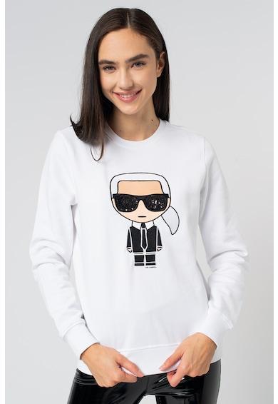 Karl Lagerfeld Ikonic kerek nyakú pulóver logóhímzéssel női
