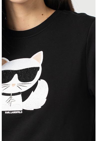 Karl Lagerfeld Ikonik kerek nyakú pulóver logóhímzéssel női