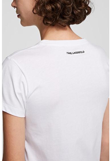 Karl Lagerfeld Kerek nyakú logós póló 1 női