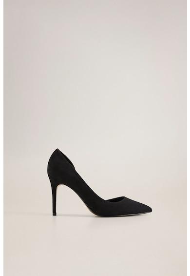 Mango Pantofi din piele intoarsa ecologica, cu varf ascutit Audrey Femei