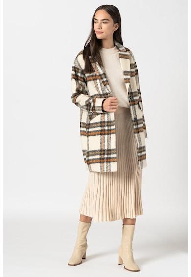 Tom Tailor Kockás kabát hajtókás gallérral női