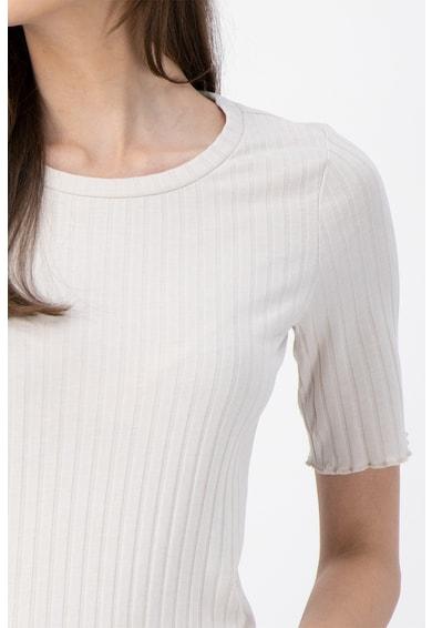 Tom Tailor Bluza cu decolteu rotund si aspect striat Femei