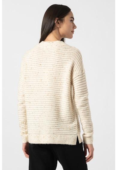 Tom Tailor Bordázott pulóver dekoratív részletekkel női