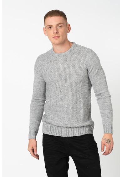 !Solid Kerek nyakú pulóver férfi