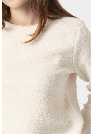 Tom Tailor Pulover de blana shearling sintetica, cu terminatie asimetrica Femei