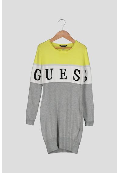 GUESS JEANS Midi pulóverruha nagyméretű logóval Lány