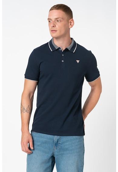 GUESS JEANS Galléros póló kis logós részlettel férfi