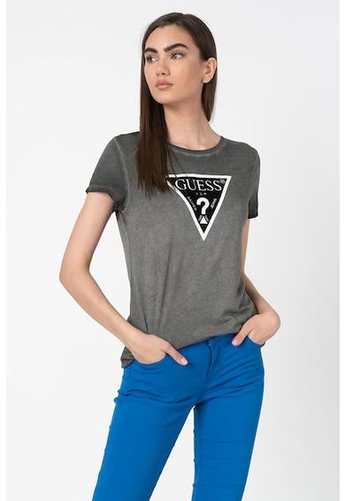 GUESS JEANS Modáltartalmú póló logómintával női