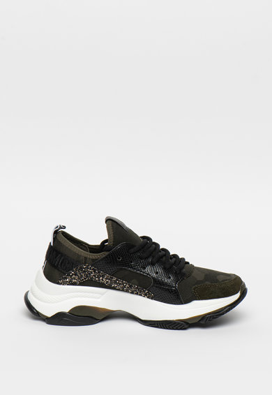 Steve Madden Pantofi sport cu imprimeu camuflaj si detalii stralucitoare Ajax Femei