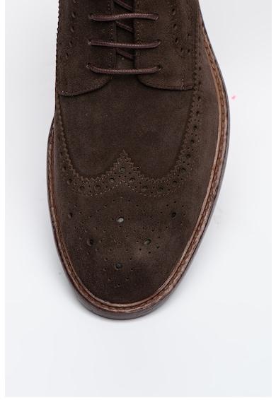 Steve Madden Pantofi Brogue de piele intoarsa Neerick Barbati