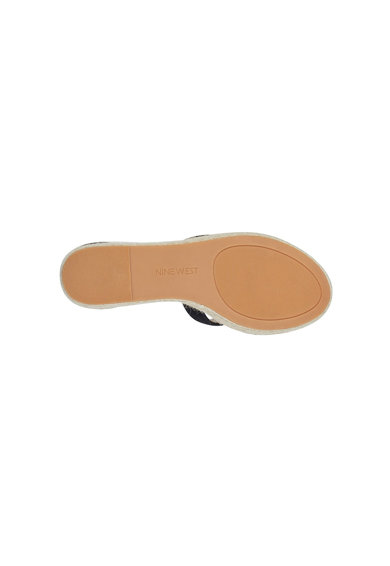 NINE WEST Sandale wedge tip espadrile din piele Adelyn Femei