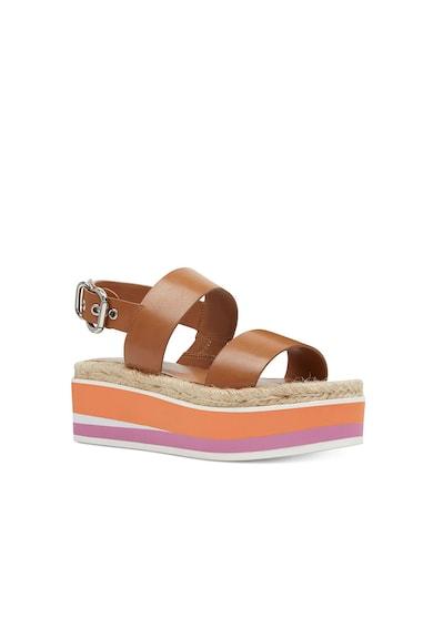 NINE WEST Sandale wedge tip espadrile din piele Athena Femei