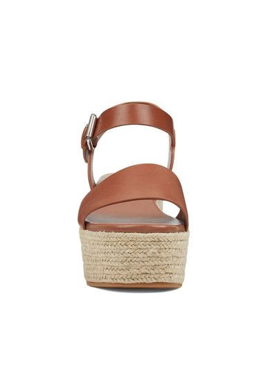 NINE WEST Sandale wedge tip espadrile din piele Emerson Femei
