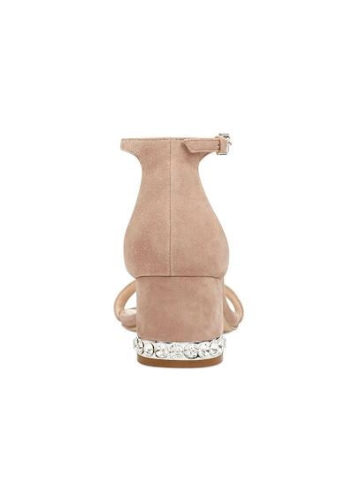 NINE WEST Sandale de piele intoarsa cu toc masiv Hazelnw Femei