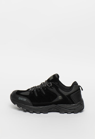 Big Star Pantofi sport de piele ecologica cu insertie de plasa Barbati