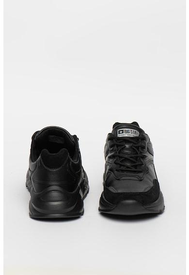 Big Star Pantofi sport de piele ecologica cu detalii logo Barbati
