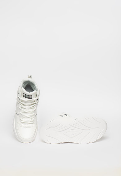 Big Star Pantofi sport high-top de piele ecologica cu detalii logo Femei