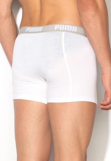 Puma Set de boxeri alb cu gri melange - 2 perechi Barbati