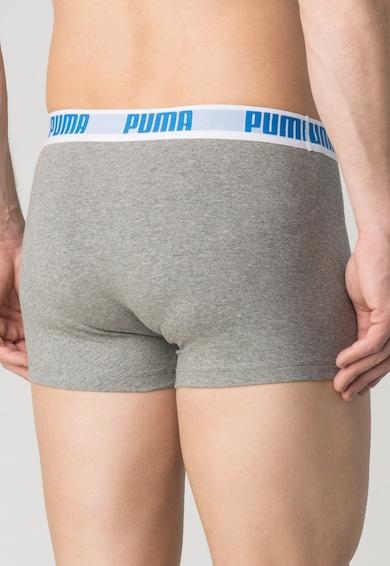 Puma Set de boxeri gri melange cu albastru - 2 perechi Barbati