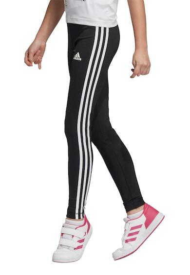 adidas Performance Colanti elastici cu dungi emblematice, pentru fitness Fete