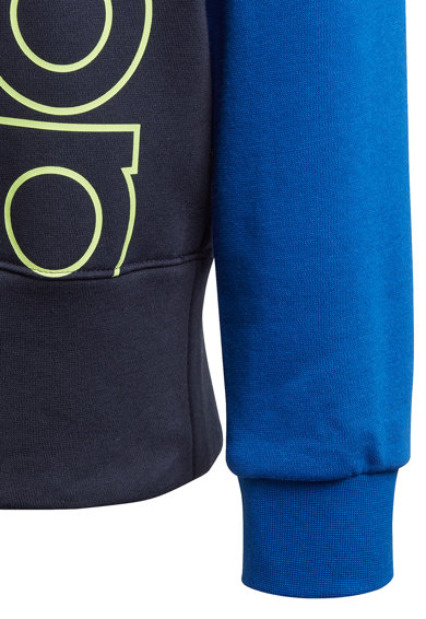 adidas Performance Bluza sport cu imprimeu logo si maneci raglan Baieti