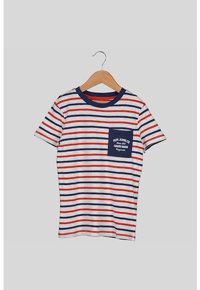 Pepe Jeans London Csíkos póló mellzsebbel Fiú