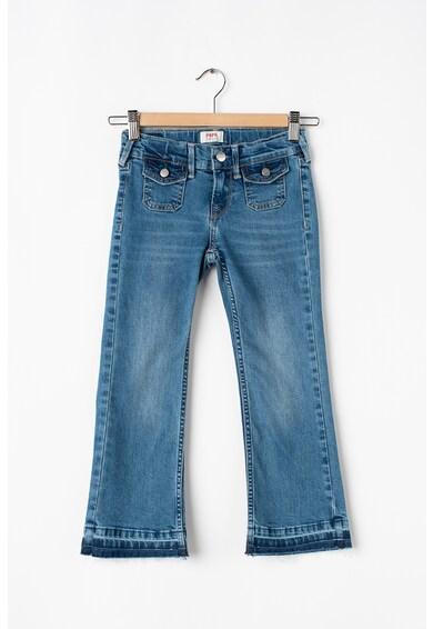 Pepe Jeans London Blugi cu buzunare cu clapa si nasture Fete