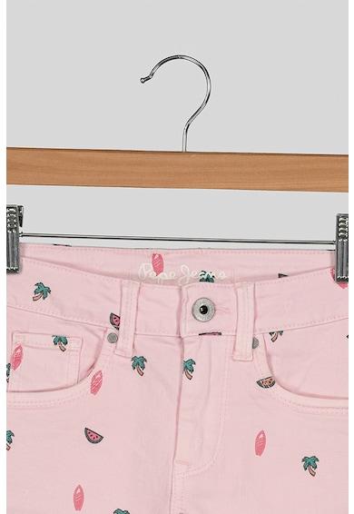 Pepe Jeans London Pantaloni scurti din denim cu imprimeu tropical Elsy Fete