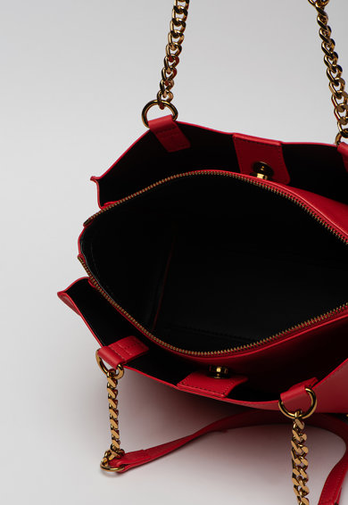 Love Moschino Geanta shopper de piele ecologica cu aplicatie logo metalica Femei