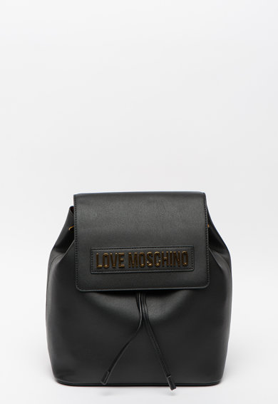 Love Moschino Rucsac de piele ecologica, cu logo metalic Femei
