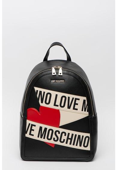 Love Moschino Műbőr hátizsák logós részletekkel női