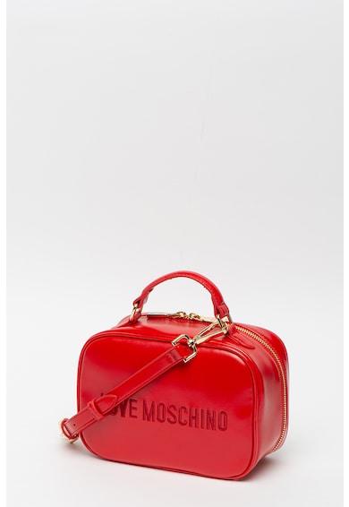 Love Moschino Steppelt hatású keresztpántos műbőr táska női